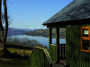 View from Beinn Ghlas Lodge at Bracken Lodges Self-Catering Holiday Loch Tay Kenmore Killin Perthshire