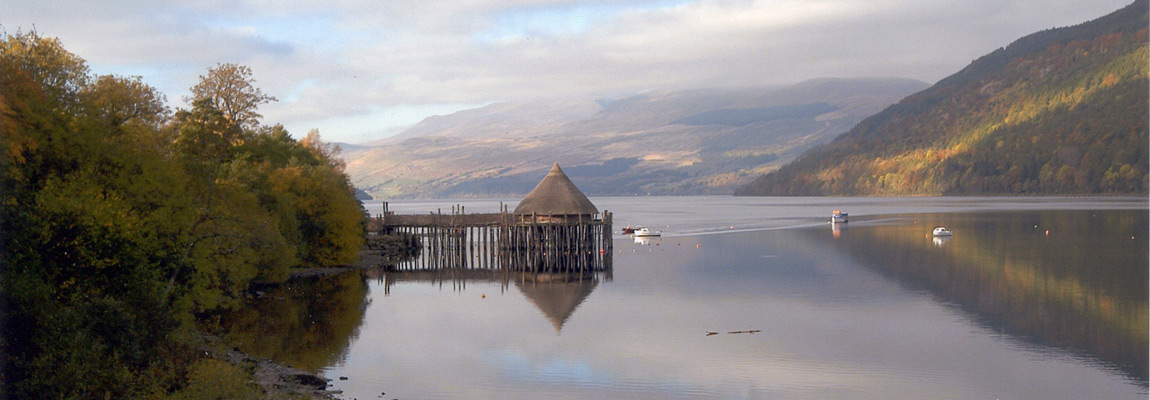 Scottish Crannog Visitor Centre at Kenmore near to Bracken Lodges Loch Tay Killin Perthshire