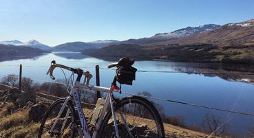 Cycling around Loch Tay