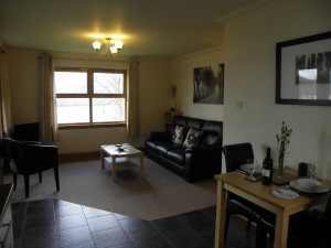 One bedroom lodge lounge/dining area at Bracken Lodges Self-Catering Holiday Loch Tay Kenmore Killin Perthshire