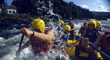 Whitewater rafting at Grandtully - a great day out!
